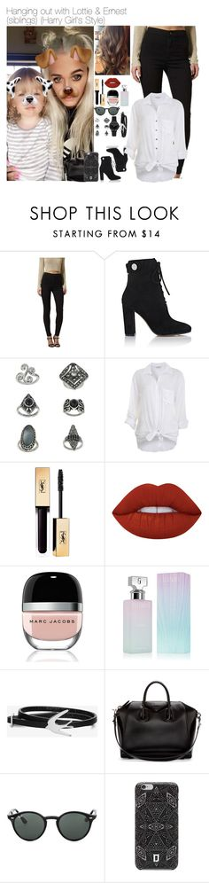"""""""Sem título #2476"""" by myllenna-malik ❤ liked on Polyvore featuring Topshop, Gianvito Rossi, Miss Selfridge, Lime Crime, Marc Jacobs, Calvin Klein, McQ by Alexander McQueen, Givenchy, Ray-Ban and DANNIJO"""