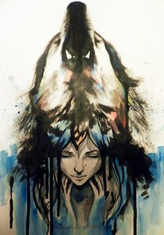 Water Color Tattoo: I would prefer to have just the wolf without the girt and a more of the wolf's face. Possible do it so you're looking at the wolf from a 45 degree angle? Aquarell Wolf Tattoo, Watercolor Wolf Tattoo, Watercolor Dreamcatcher, Watercolor Drawing, Wolf Tattoos, Rib Tattoos, Art Beat, She Wolf, Wolf Spirit