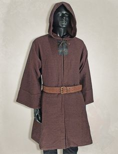 larp clothing, medieval clothing, larp brown monk medieval robe. Item can be found at http://www.larpcanada.com