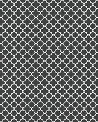 Waverly Classics, Black and White Framework Trellis Wallpaper