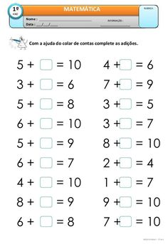 Education Discover addition activities for fundamental year - Math First Grade Math Worksheets Kindergarten Math Worksheets Grade Math Teaching Math Math Addition Addition Activities Homeschool Math Math For Kids Math Lessons Math Addition Worksheets, First Grade Math Worksheets, English Worksheets For Kids, 1st Grade Math, Kindergarten Worksheets, Addition Activities, Circle Time Activities, Homeschool Math, Math For Kids