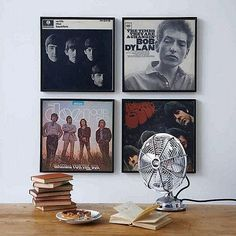 Framed album covers. I wonder if Dad's got some of these stashed somewhere...