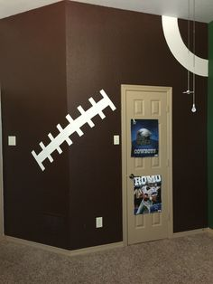 Football Field Painted On Wall Google Search Wall Painting - Kids football room