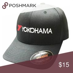 New Black Yokohama Racing Flex fit hat L XL Brand new Yokohama hat   cap 36b56f3a1224