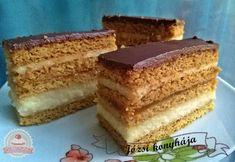 Mézes grízes krémes Hungarian Recipes, Hungarian Food, Vanilla Cake, Fudge, Tiramisu, Favorite Recipes, Sweets, Meals, Ethnic Recipes