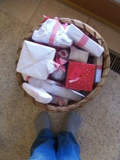 Advent care package - I did this for a far-away friend one year and she loved it!