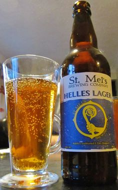 The St Mel's Helles lager  It was a quality beer to drink and a beer I can imagine would work well with a nice meal. If a punter is going to try a new experience and drink a craft beer then this beer would be a great introduction. A good local Irish lager.