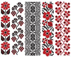 There Is A Scheme Of Ukrainian Pattern For Embroidery Royalty Free Cliparts, Vectors, And Stock Illustration. Cross Stitch Borders, Cross Stitch Charts, Cross Stitching, Cross Stitch Patterns, Folk Embroidery, Cross Stitch Embroidery, Embroidery Patterns, Free Cliparts, Broderie Simple
