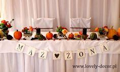 Dekoracja stołu Młodej Pary #ślub #wesele #wedding #decor