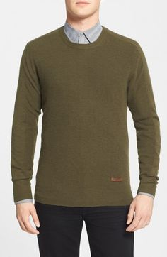 Burberry Men's Brit Tanridge Cashmere Crewneck Sweater | Clothing