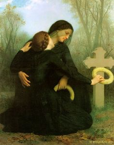 All Saints Day, 1859, William-Adolphe Bouguereau    Size: 147x120 cm  Medium: oil, canvas