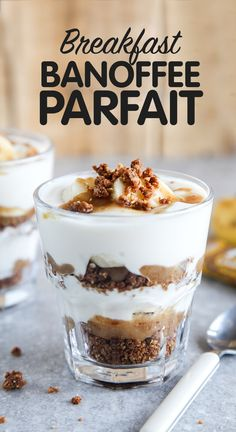 Breakfast Banoffee Parfait (Vegan + GF)