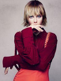 Publication: Vogue China December 2015.   Model: Edie Campbell.   Photographer: Sølve Sundsbø.   Fashion Editor: Beat Bolliger.   Hair: Syd Hayes.   Make-up: Val Garland.   Nails: Marian Newman.