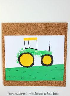 Tractor footprint art