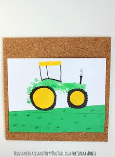 Tractor footprint art