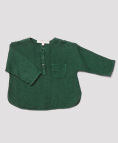 Santorini Baby Shirt, Turtle Green, Caramel Baby & Child.