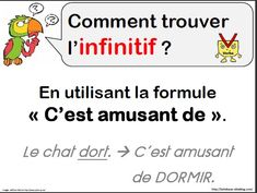 [LANGUE - conjugaison] trouver l'infinitif French Teacher, French Class, French Grammar, Grammar And Vocabulary, Classroom Language, Cycle 3, Learn French, French Language, Homeschool