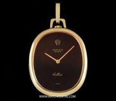 Rolex Y/G Orange Mirrored Dial Cellini Pocket Watch Pendant 3729 Rolex Cellini, Vintage Rolex, Pocket Watches, Breitling, Cartier, Fathers Day, Gadgets, Orange, Luxury