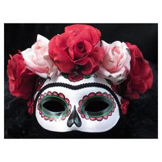 Mask--Little Catrina--Day of the Dead/Halloween/Masquerade/Costume ❤ liked on Polyvore featuring costumes, mask, masquerade halloween costumes и masquerade costumes