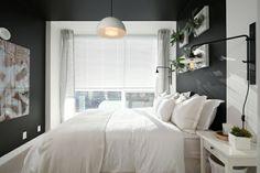 Wanddeko auf graue Wand im Schlafbereich Kunststücke Pflanzen Blumen