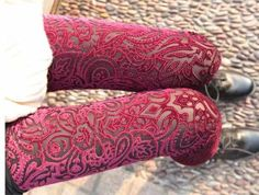 red velvet leggings