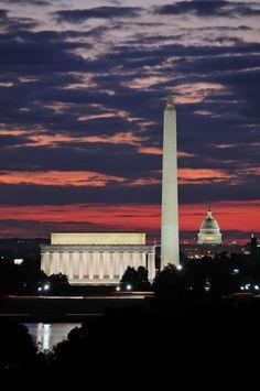The skyline of Washington DC, USA. #USA #Skyline #WashingtonDC