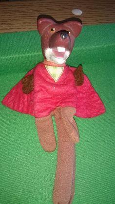 Basil Brush   Finger Puppet  ha ha  boom boom!  1970's Toy   BBC Childrens  TV favourite   Roy North  Mr Roy by bastarduk on Etsy