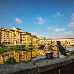 28 432km // Florence // Italy  The main reason @ChanelCartell wanted to visit Florence was to see the gorgeous bridge, Ponte Vecchio. We shot it from every angle, walked across it, and also dripped some drool on it.  Follow our story >> link to blog in profile.  #HFFH_travels #InLoveWithItaly #HFFH_wanderlist