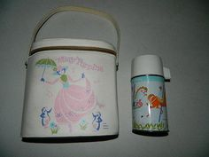 VERY RARE VINTAGE 1964 MARY POPPINS VINYL LUNCHBOX & THERMOS SET BY ALADDIN My lunch box in 1st grade.