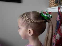 Shaunell's Hair: Little Girl's Hairstyles - French Braid into Wrapped Ponytail 10-15 Min
