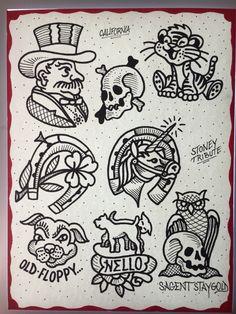 Tattoo flash drawing