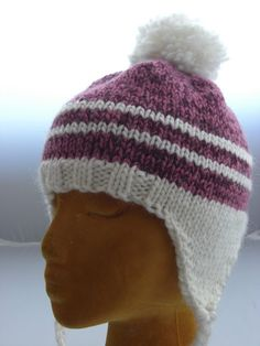 This pattern is my tried and true hat design. A spin-off of Far North Yarn Co.s Alaska Ear Flap Hat, I have made probably about 50 hats over the past 7 years. Knitted Hats Kids, Baby Hats Knitting, Knitting For Kids, Knit Hats, Crochet Mittens, Knit Or Crochet, Crochet Hats, Knitting Patterns Free, Free Knitting