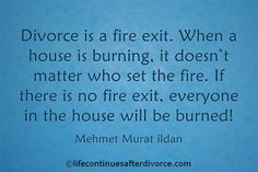 Divorce is a fire exit...... Need to put out the fire and move on after divorce? You need this: http://www.lifecontinuesafterdivorce.com/life-continues-after-divorce-toolkit/