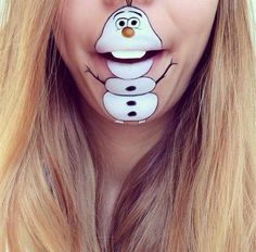 Makeup artists opts for lip art instead of face paint and the result is amazing. From characters like Olaf from Frozen to a Minion, she can do it all!