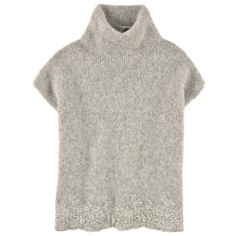 Ermanno Scervino Junior Loose fit wool and alpaca blend sweater Grey - 99313   Melijoe.com