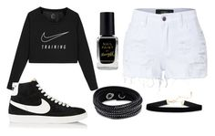 """""""Nike✔"""" by thisisalle on Polyvore featuring NIKE, Barry M, Swarovski and LE3NO"""