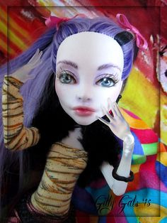 Repainted Spectra Monster High OOAK - Nude doll by Gilly Gals