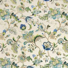 The G7495 Sapphire upholstery fabric by KOVI Fabrics features Floral pattern and Blue as its colors. It is a Linen, Made in USA, Print type of upholstery fabric and it is made of 55% Linen, 45% Rayon material. It is rated Exceeds 15,000 double rubs (heavy duty) which makes this upholstery fabric ideal for residential, commercial and hospitality upholstery projects.For help please call 800-860-3105.