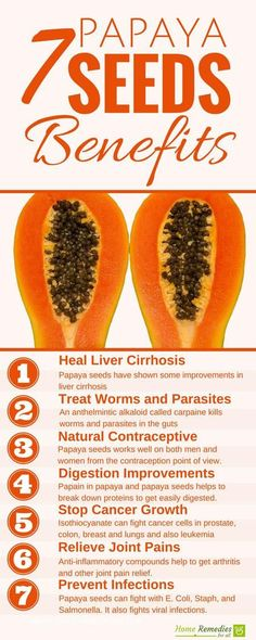 papya seeds benefits infographic