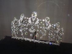 The Bourbon Parme Tiara: Created in 1919 by Joseph Chaumet of diamonds set in platinum.