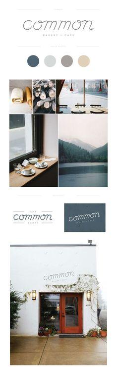 (35) Lauren Ledbetter Design & Styling — Common Cafe + Bakery | GRAPHIC DESIGN GROUP BOARD | Pinterest / Branding / Cafe / Coffee / Soathing / Calming / Nordic / Scandinavian / Blue / Pastel / Muted Palette / Gray / Beige / Wood / Nature / Organic