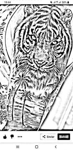 Tiger Tattoo, Lion Tattoo, Criminal Tattoo, Tiger Eyes, Forearm Tattoo Design, Tiger Design, Back Pieces, Shoulder Tattoos, Animal Sketches