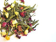 GREEN SENCHA JASMINE & ROSE- Antioxidant rich, full-bodied green tea.