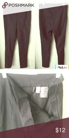 H&M size 10 black dress pants side zipper NWOT Never been worn. H&M Pants Ankle & Cropped