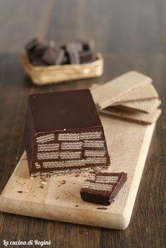 Torrone al wafer, buonissimo! Chocolate Pudding Cake, Chocolate Ice Cream, Chocolate Desserts, Sweet Recipes, Cake Recipes, Tortillas Veganas, Torte Cake, Cooking Cake, Arabic Food