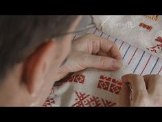 Embroidery Master Exhibits Collection at Ukrainian Museum - YouTube