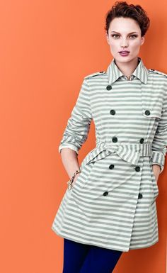 Cool stripe trench Banana Republic 2013