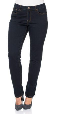 Typ , Stretch-Jeans, |Materialzusammensetzung , 71% Baumwolle,27% Polyester, 2% Elasthan, |Waschung , dark denim, |Beinform , schmale Form, |Passform , schmale Form, |Anlass , Everyday, |Innenbeinlänge , N-Gr. 80,5 cm, K-Gr. 75,5 cm, L-Gr. 87,5 cm, | ...