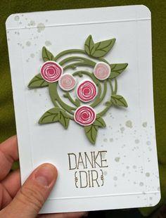 made by M@ggie: Buntes Leben - weiße Karte