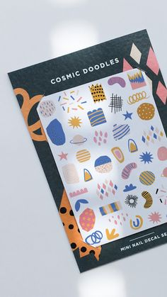 by Odine Nails Nail Decals, Cosmic, Doodles, Contemporary, Nails, Mini, Unique Jewelry, Handmade Gifts, Finger Nails